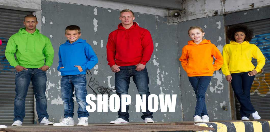 You're guaranteed excellent quality with these well-known hoodie brands. Our range of hoodies come in different fits and sizes and there are even zip-up hoodies to choose from too. With such a wide range of colours and sizes there's truly something for everyone. Browse our website and select your ideal hoodie at value for money pricing and much more all embroidered or printed with you logo. Get in touch for expert advice and help on garment selection, logo design and garment printing and embroidery